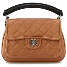 Pre-owned Chanel Shoulder (132.505 RUB) ❤ liked on Polyvore featuring bags, handbags, shoulder bags, brown, cowhide handbags, zipper purse, chanel shoulder bag, chanel handbags and cowhide purse