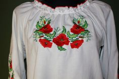 10% SALE!!! Traditional Ukrainian Embroidered Women's Blouse/Shirt - Vyshyvanka. Size xs, s, m, l, xl by aCrossUkraine on Etsy https://www.etsy.com/listing/189255313/10-sale-traditional-ukrainian