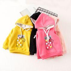 V-TREE plus velvet winter children jackets cartoon girls hoodies outerwear thicken kids coat fashion baby hooded sudaderas //Price: $18.42 //     #baby