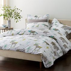 Winter Forest Flannel Duvet Cover and Sham | The Company Store