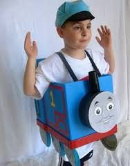 Image result for how to make a thomas the train costume