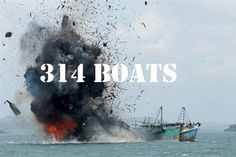 317 Boats Fishing Illegally Destroyed by Jokowi govt