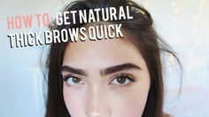 How To Grow Eyebrows FAST! (Thick & Natural) - YouTube