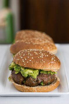 Chipotle Burgers with Guacamole