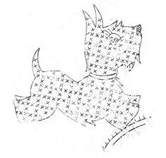 Vintage Crafty Saturdays – Free Vintage Scottie Dogs Embroidery Pattern