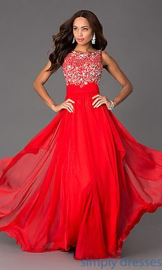 Dresses, Formal, Prom Dresses, Evening Wear: Floor Length Sleeveless Dress
