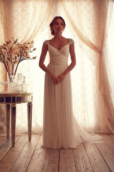 Simple White Beach Wedding Dresses Style 2014 Bridal Dresses Open Back