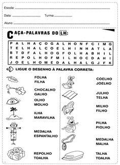 Atividades para ligar o desenho as palavras