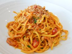 If there's a dish you MUST order at Marea, it's surely the spaghetti with crab, sea urchin, and basil. 240 Central Park S