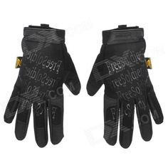 Free Solider Outdoor Cycling Fiber   Nylon Full Finger Gloves - Black (Pair) Price: $12.20