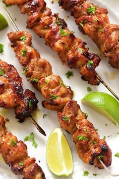 Peruvian Grilled Chicken Skewers - thecafesucrefarine.com: Juicy, tender grilled chicken, bursting with vibrant flavor. These Peruvian Grilled Chicken Skewers are a delicious fusion of South American and Asian cuisines!