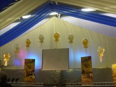 Gold and ivory bubble arch