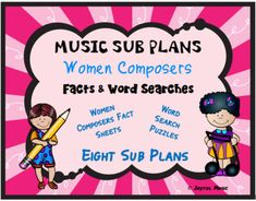 *** $5.00 ***This product is great for DISTANCE LEARNING as well as the elementary Music classroom!Overview: This product includes eight easy Music Sub Plans for 3rd - 8th. Each lesson is built around students learning some facts about a composer. Each includes a word search puzzle using words from ...