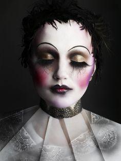 Gothic makeup by makeup artist Alex Box face and hair and nails Oh My!,face painting,Makeup,Makeup I love, Doll Makeup, Clown Makeup, Makeup Box, Sfx Makeup, Costume Makeup, Halloween Face Makeup, Zombie Makeup, Circus Makeup, Carnival Makeup