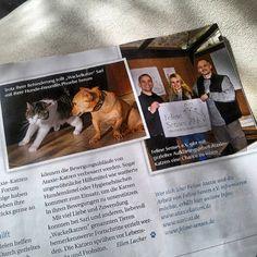 """Wir sind in der aktuellen Zeitung """"Geliebte Katze""""zu finden. Ausgabe Nr.11 Nov. 2013."""