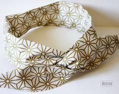 Headband,Bandeau à cheveux,serre tête,fil de fer souple,étoiles japonaises,doré