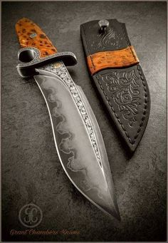 custom handmade knives made solely by Grant Chambers.