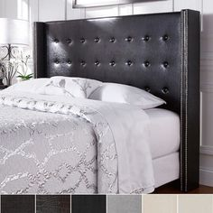 Shop for Marion Nailhead Wingback Button Tufted Queen Size Headboard by INSPIRE Q. Get free delivery at Overstock.com - Your Online Furniture Shop! Get 5% in rewards with Club O!