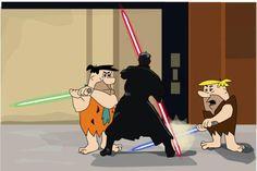 Fred & Barney vs Darth Maul #starwars