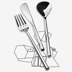 MU Cutlery by Toyo Ito for Alessi - damn that's sexy.