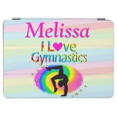 I LOVE GYMNASTICS IPAD COVER Every Gymnast will be inspired with our awesome personalized I love Gymnastics Gifts https://www.zazzle.com/collections/i_love_gymnastics_personalized_gifts-119756173861570670?rf=238246180177746410&CMPN=share_dclit&lang=en&social=true  Gymnastics #Gymnast #WomensGymnastics #personalizedGymnast