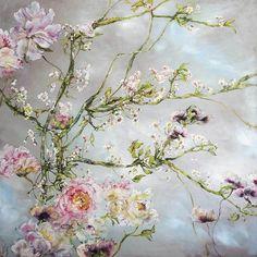 Oil painting by Claire Basler Art Floral, Oil Painting Flowers, Watercolor Flowers, Flower Paintings, Portraits Pastel, Flower Artwork, Art Flowers, Ouvrages D'art, Flower Canvas