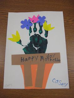 Mother's Day Handprint craft could be used for get well soon
