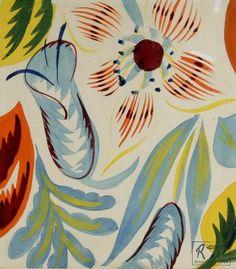 Raoul Dufy - Composition avec des fleurs, ca. 1920 by taylor Motifs Textiles, Textile Patterns, Textile Prints, Textile Design, Print Patterns, Fabric Design, Raoul Dufy, Illustrations, Illustration Art