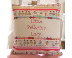 Any budding Ballerina would love this personalised cushion by Tuppenny House Designs