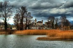 Rapperswil Castle, Rapperswil-Jona, Switzerland ~ A Storm is coming in great cloud formations