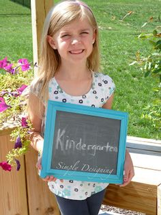 Back to School photo - get the kid to write the grade in THEIR handwriting