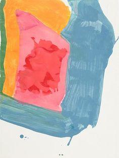 Helen Frankenthaler, Untitled, Gouache on Paper