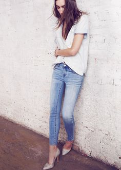 simple #denim #tshirt