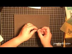 Embossed Vellum Elements for Cards Video by Jan Tink at Stamps, Paper, Scissors