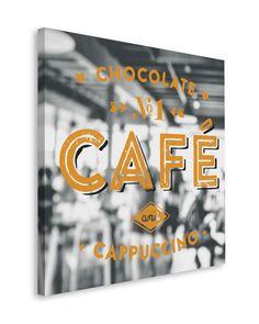 Poster: Cafe Window online te koop. Bestel je poster, je 3d filmposter of soortgelijk product Deco Block 40x40