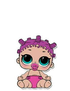 Little Sisters, Little Girls, Sweet Drawings, Doll Party, Little Girl Birthday, Lol Dolls, Cute Characters, Pictures To Draw, Big Eyes