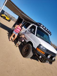 Family day with or Chevrolet express van Chevrolet Van, Chevy Van, Gmc Vans, Chevy Express, Van Accessories, 4x4 Van, Cool Campers, Off Road Adventure, Cargo Van