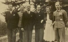 VL and EA with their four sons, Princes Ernst August, Georg, Christian and Welf of Hanover