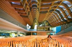 Image 5 of 24 from gallery of China Pavilion - Milan Expo 2015 / Tsinghua University + Studio Link-Arc. Photograph by Sergio Grazia Expo Milano 2015, Expo 2015, Parametric Architecture, Modern Architecture, Shanghai, Expo 67 Montreal, China, Tsinghua University, Wood Truss