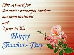 Latest 2019 Happy Teachers Day Wishes, Messages And Quotes With Images Happy Teachers Day Message, Teachers Day Special, Greeting Cards For Teachers, Wishes For Teacher, Teachers Day Celebration, Teachers Day Greetings, Message For Teacher, Teachers Day Gifts, Teacher Cards
