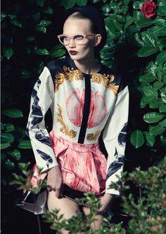 blink eyewear magazine   Eyeglasses Andy Wolf, Dress Francesco Scognamiglio