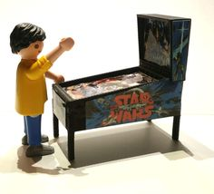 PINBALL MACHINE MINIATURA STAR WARS FLIPPER CUSTOM FIGURA PLAYMOBIL  NO INCLUIDA Pinball, Playmobil Sets, Heart For Kids, Toy Chest, Star Wars, Ebay, Stars, Fun, Military Police