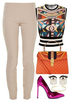 Eyes by carolineas on Polyvore featuring polyvore, fashion, style, Givenchy, The Row, Yves Saint Laurent, Gucci, Lana, Sydney Evan and clothing