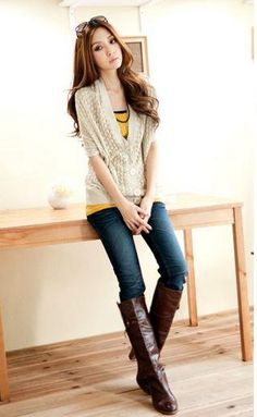 Beige Trendy Stylish Cut Work Cardigan Japanese Fashion Fall Collection
