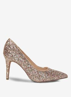 34c1ff2cdf7 Womens Wide Fit Pink Glitter  Electra  Court Shoes- Pink. dorothyperkins.com