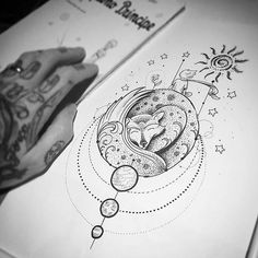 """Detalhes do """" O pequeno Príncipe"""" por <a href=""""http://instagram.com/kadutattoo"""">@kadutattoo</a>  Incrível trabalho!  Corre que o desenho ta disponível para tatuar!:"""