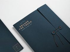 Escape Room Branding from Dubai / World Brand Design Society Collateral Design, Stationary Design, Branding Design, Wedding Cards, Wedding Invitations, Dubai World, Folder Design, Puzzle Box, Escape Room