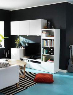Combinación muebles blancos Besta Ikea | Decoración: 15 composiciones de muebles TV con la serie Besta de Ikea | Blog F de Fifi: manualidades, imprimibles y decoración | Ideas Armarios besta para el salón | Ikea Hack | Tubear muebles Ikea | Propuestas decorativas con los muebles Besta | Sistema de organización versatil para salón.