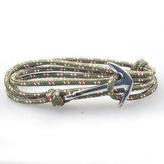 Nautical Anchor Survival Paracord Wrap Bracelets [15 Variants]