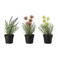 FEJKA Artificial potted plant, lavender assorted colors